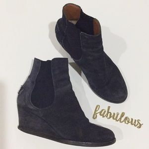 FENDI blue suede leather booties size 6